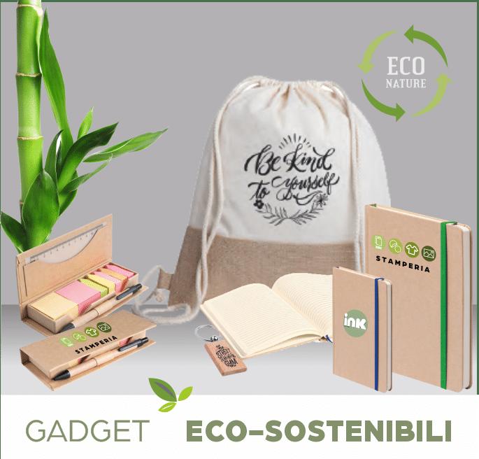 gadget eco sostenibili stampa personalizzata catalogo online